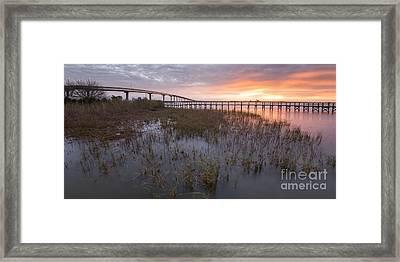 Bridges At Sunrise In Apalachicola Framed Print