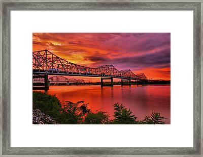 Bridges At Sunrise Framed Print by Steven Ainsworth