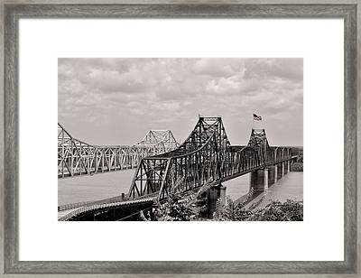 Bridges At Vicksburg Mississippi Framed Print by Don Spenner