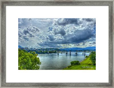 Bridges Of Chattanooga Tennessee Framed Print by Reid Callaway