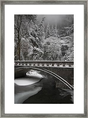 Bridges Of Multnomah Falls Framed Print by Wes and Dotty Weber