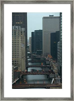 Bridges Over The River Chi Framed Print by Sheryl Thomas
