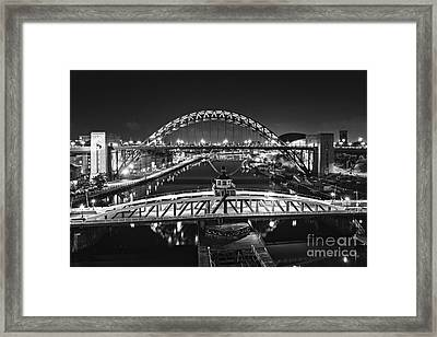 Bridges Over The River Tyne Framed Print by David Lewins