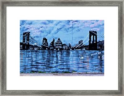 Bridges To New York Framed Print