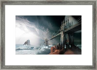 Bridges To The Neverland Framed Print by George Grie