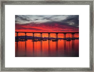 Bridgescape Framed Print