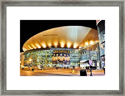Framed Print featuring the photograph Bridgestone Arena by Lisa Wooten