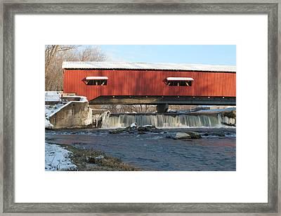 Bridgeton Bridge Framed Print by Jeff VanDyke
