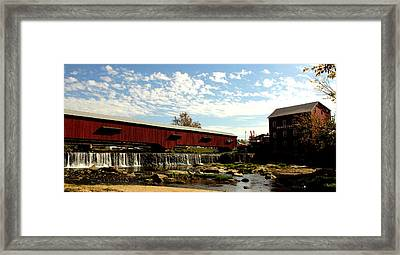 Bridgeton Covered Bridge And Mill By Earl's Photography Framed Print by Earl  Eells a