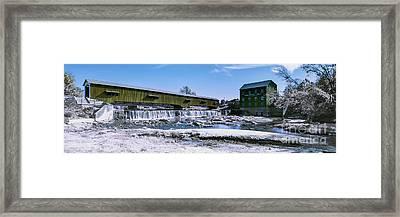 Bridgeton In Infrared Number 1 Framed Print by Alan Look