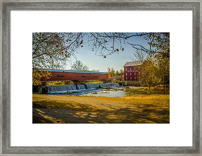 Bridgeton Mill Covered Bridge Framed Print