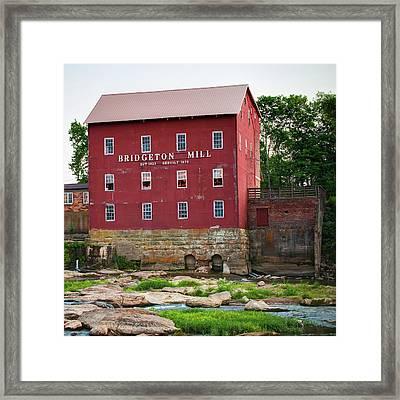 Bridgeton Mill - Indiana Square Art Framed Print by Gregory Ballos