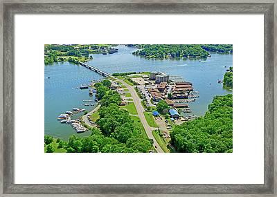 Bridgewater Plaza Aerial Framed Print