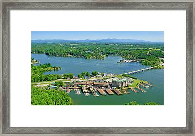 Bridgewater Plaza, Smith Mountain Lake, Virginia Framed Print