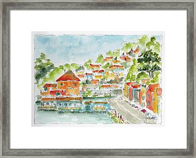 Framed Print featuring the painting Bridgeway Boulevard Sausalito by Pat Katz