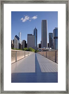 Bridgeway To Chicago Framed Print by Steve Gadomski