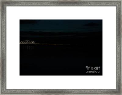 Bridging The Columbia River Framed Print