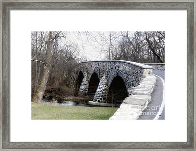 Bridging The Country  Framed Print