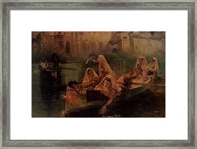 Bridgman Fredick Arthur The Harem Boats Framed Print