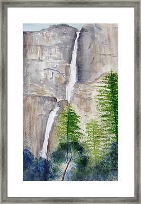 Bridal Veil Waterfall Framed Print