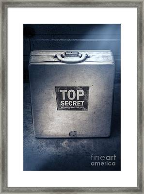 Brief Case Of Top Secret Espionage Framed Print