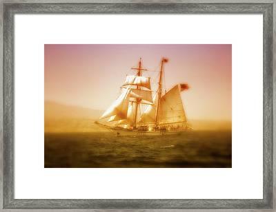 'brigantine Augustus Mccrea' Framed Print by Gus McCrea