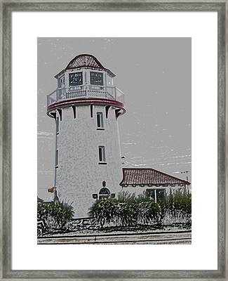 Brigantine Lighthouse Framed Print by Trish Tritz