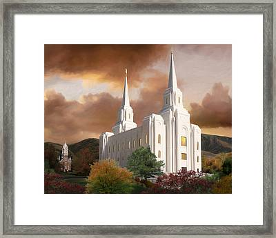 Brigham City Temple #1 Framed Print by Brent Borup