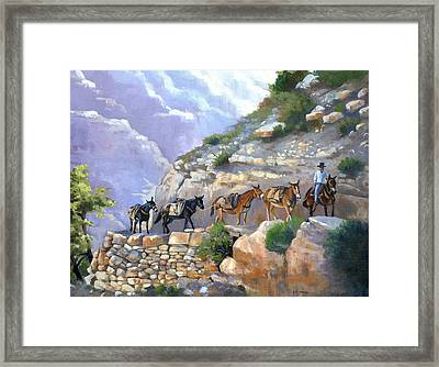 Bright Angel Mules Framed Print by Alecia Underhill