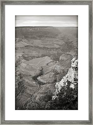 Bright Angel Trail Black And White Framed Print