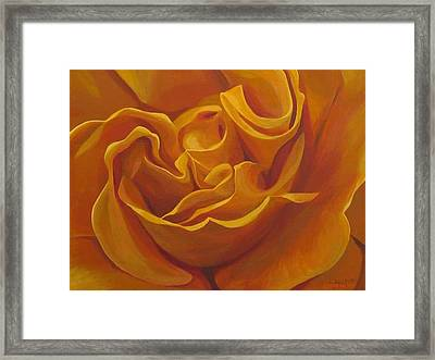 Bright As Yellow Framed Print
