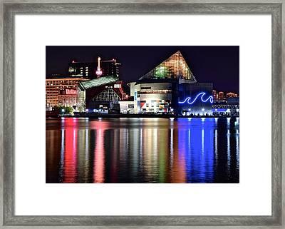 Bright Baltimore Lights Framed Print