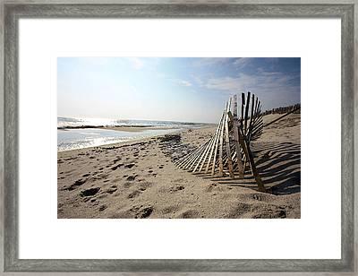 Bright Beach Morning Framed Print by Mary Haber