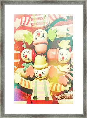 Bright Beaming Clown Show Act Framed Print