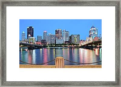 Bright Blue Hour Pittsburgh Framed Print by Frozen in Time Fine Art Photography