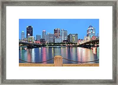 Bright Blue Hour Pittsburgh Framed Print