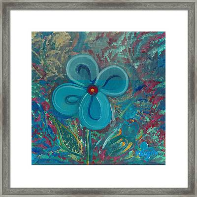 Framed Print featuring the painting Bright Blue by John Keaton