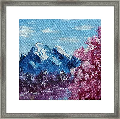 Bright Blue Mountains Framed Print by Jera Sky