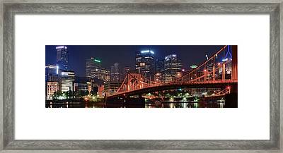 Bright City Night Framed Print by Frozen in Time Fine Art Photography