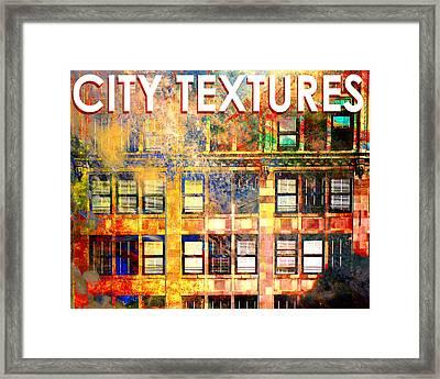 Bright City Textures Framed Print