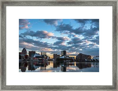 Bright Clouds Over Baltimore Framed Print by Jim Archer