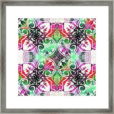 Bright Colorful Pattern Art - Color Fusion Design 10 By Sharon Cummings Framed Print by Sharon Cummings