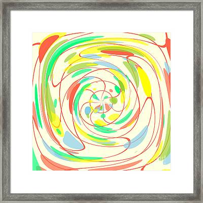 Bright Colors Abstract Framed Print
