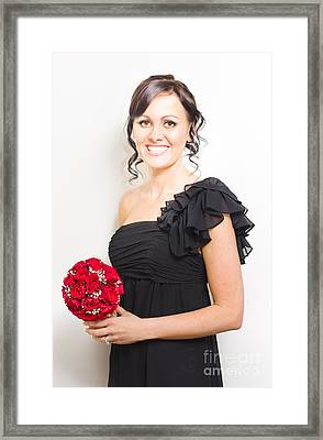 Bright Eyed Bridesmaid Framed Print by Jorgo Photography - Wall Art Gallery