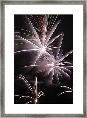 Bright Fireworks Framed Print