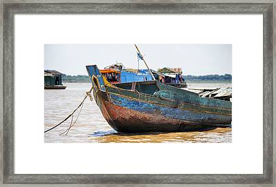 Bright Fishing Boat Framed Print