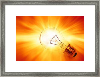 Bright Idea Framed Print by Les Cunliffe