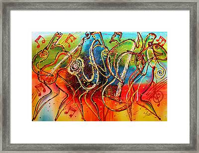 Bright Jazz Framed Print