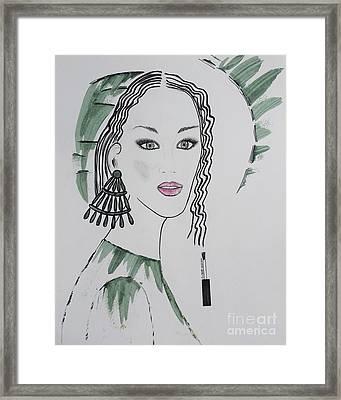 Bright Lady Framed Print