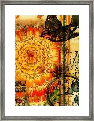 Bright Life Encaustic Framed Print by Bellesouth Studio